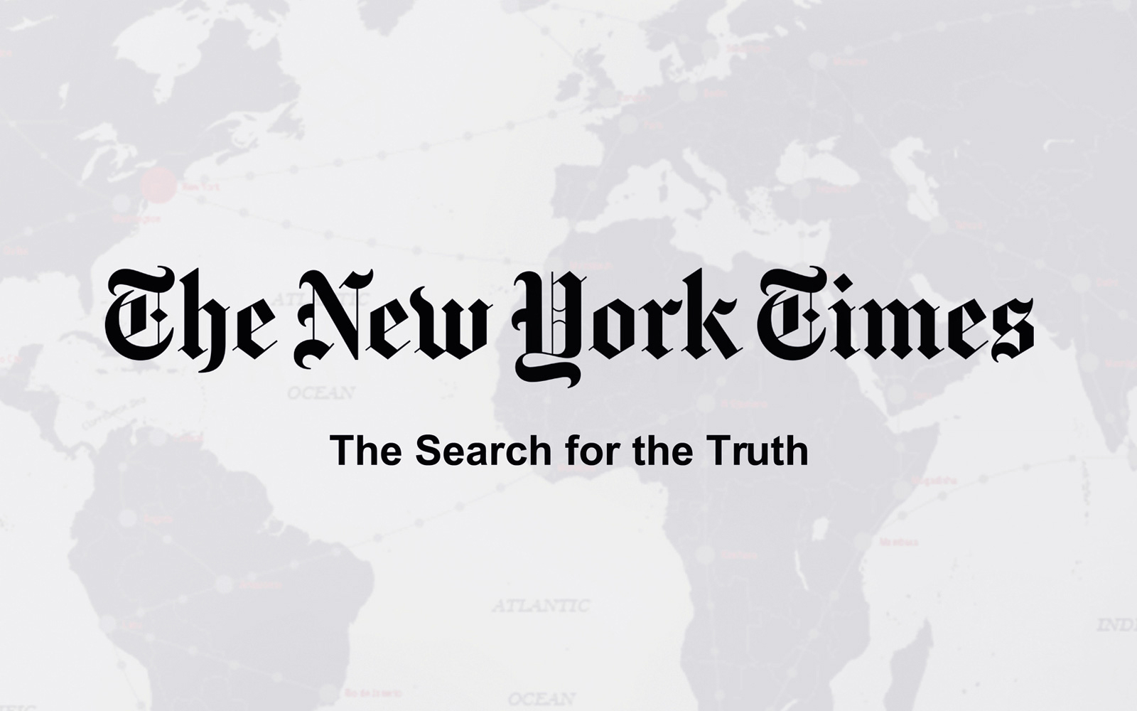 Intro cover for The New York Times: The Search for the truth, board game case